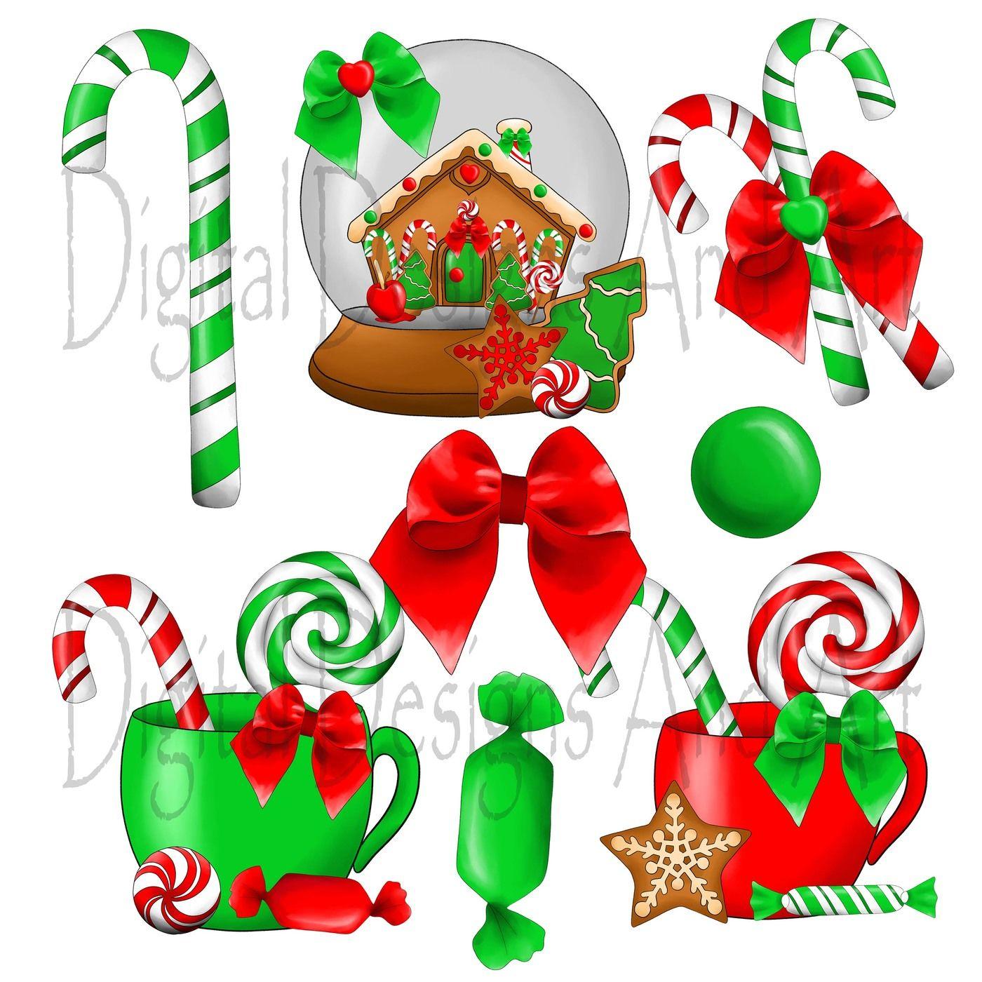 Christmas sweets clipart By DigitalDesignsAndArt.