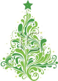 Christmas Swirls Clipart Free.