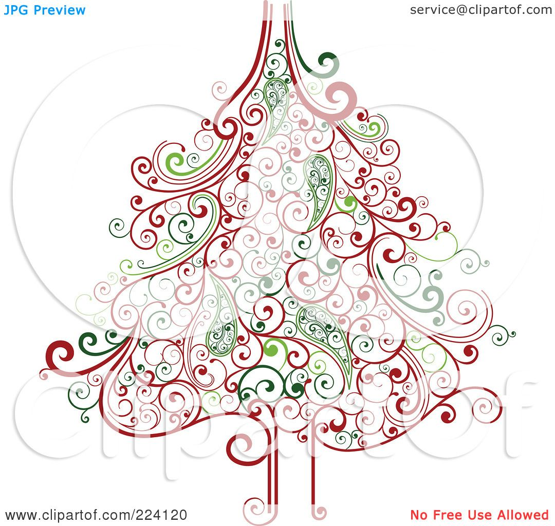 Watch more like Swirl Christmas Tree Silhouette Clip Art.