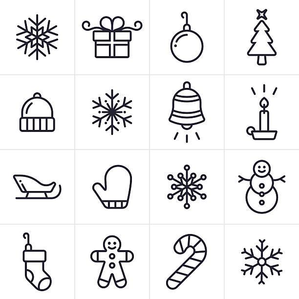Best Christmas Symbols Illustrations, Royalty.