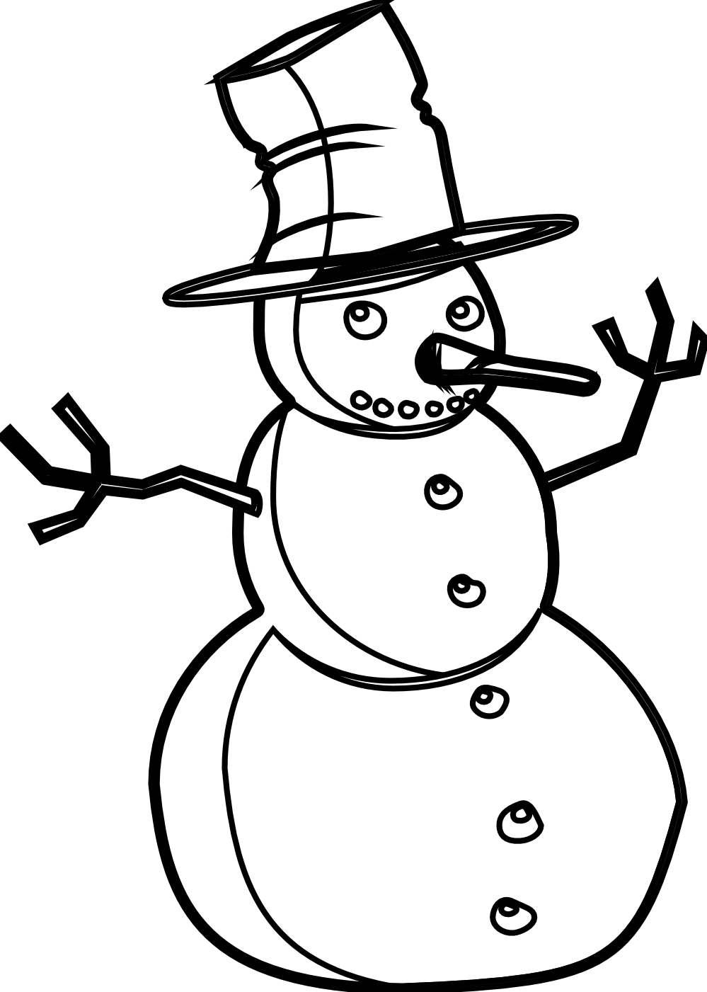 Snowman black and white snowman black and white christmas t clipart.