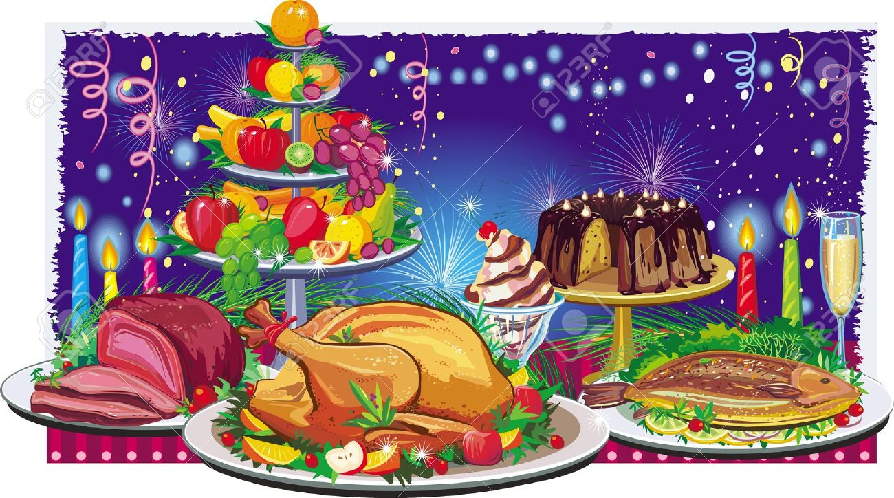 Holiday Dinner Royalty Free Cliparts, Vectors, And Stock.