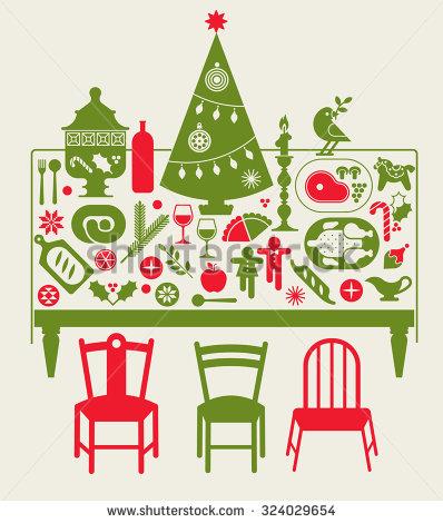 Christmas Table Stock Photos, Royalty.