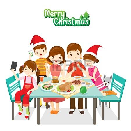 922 Christmas Table Food Stock Vector Illustration And Royalty.