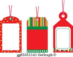 Christmas Gift Tag Clip Art.
