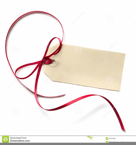 Black And White Gift Tag Clipart.