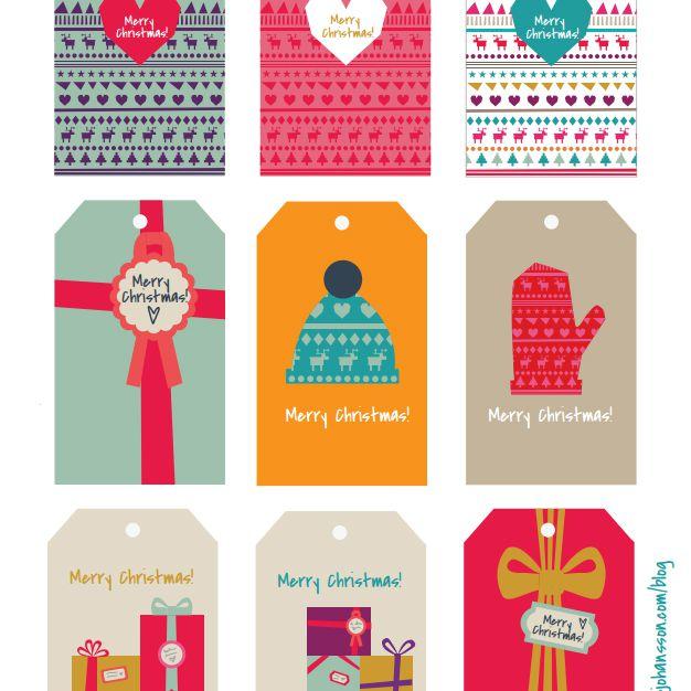 40 Sets of Free Printable Christmas Gift Tags.
