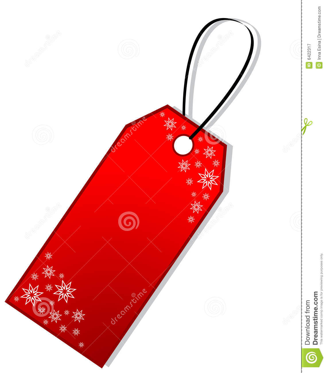 Free Christmas Gift Tag Clipart.