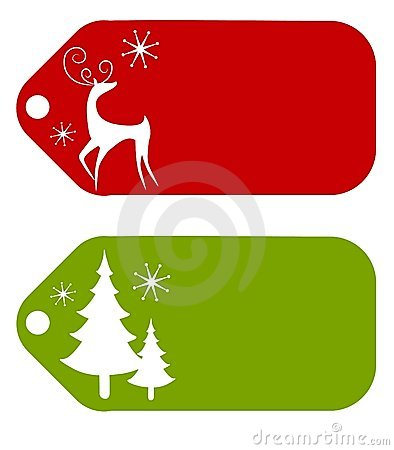 Free Clipart Vintage Christmas Tags For Bakery Gift Giving.