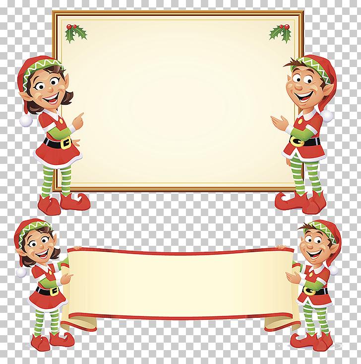 Santa Claus Christmas elf, Christmas tag PNG clipart.