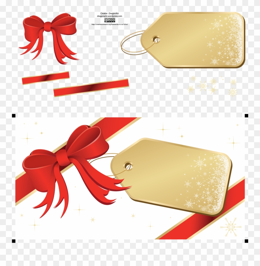 Christmas Tag Png Clipart (#3393202).