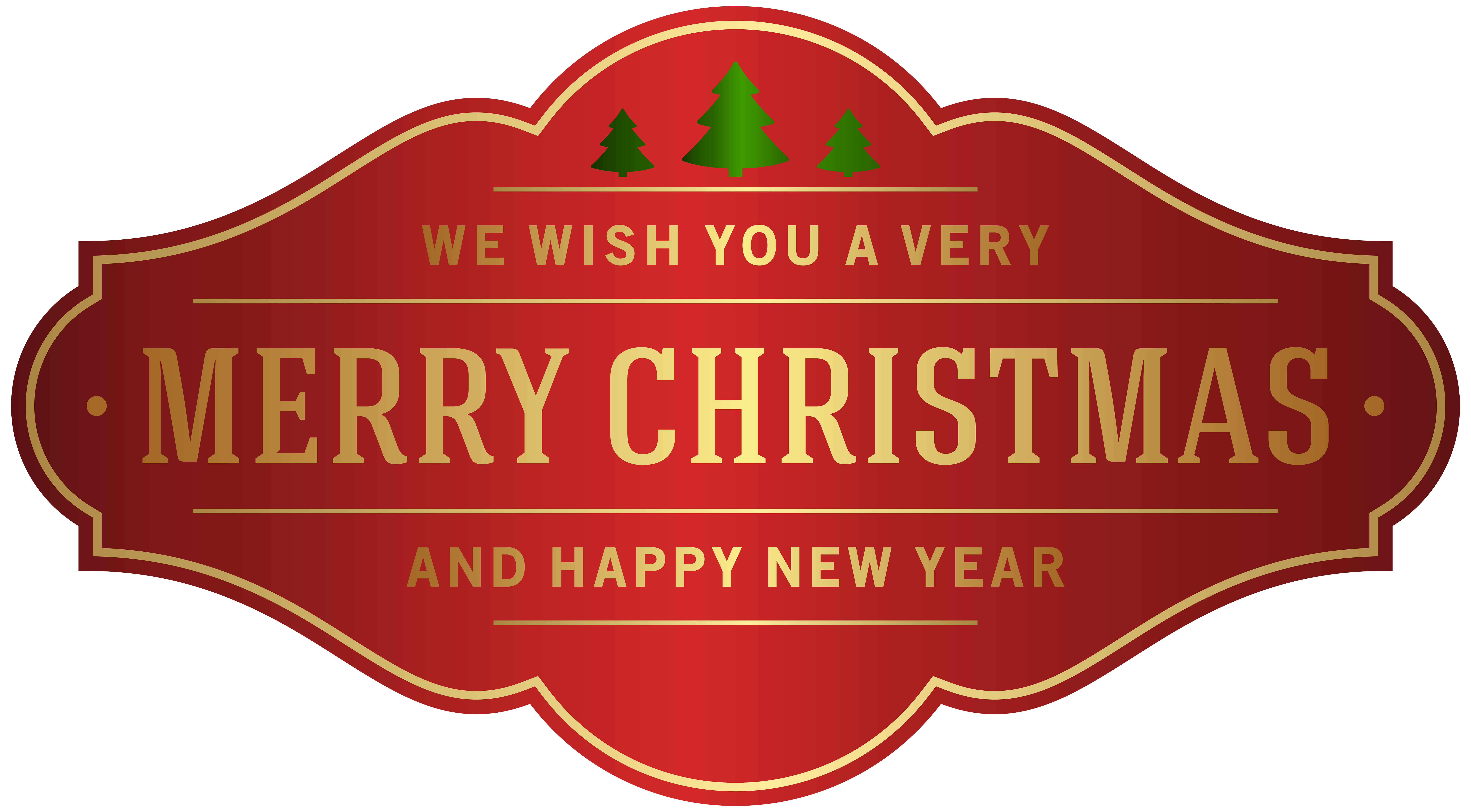 Merry Christmas Label PNG Clip Art Image.
