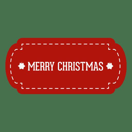 Red christmas tag.