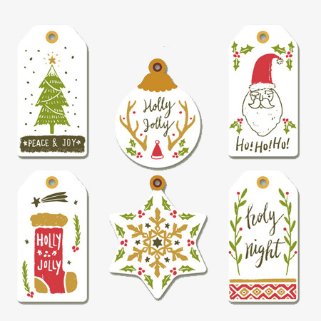 Christmas Tags, Christmas, Label, Decoration PNG Image and Clipart.