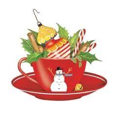 Christmas Tea Cup Clipart.