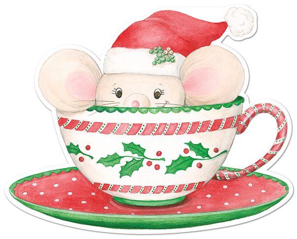 Christmas mug with mouse.