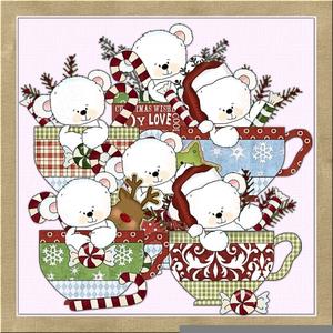 Christmas Tea Party Clipart.
