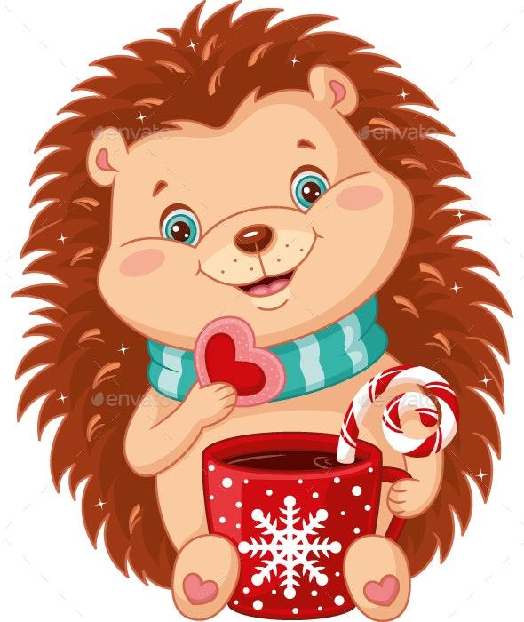 Hedgehog and Christmas Tea Party.