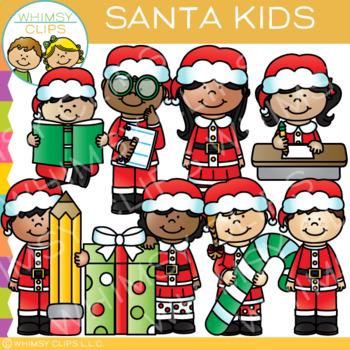Santa Kids Christmas Clip Art in 2019.