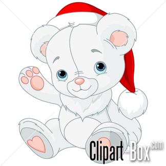 CLIPART CHRISTMAS TEDDY BEAR.