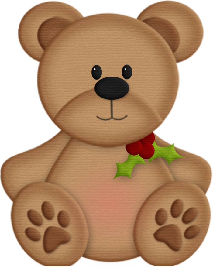 CHRISTMAS TEDDY BEAR CLIP ART.
