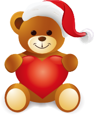 Christmas Teddy Bear Clip Art.