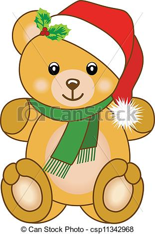 Clipart Christmas Teddy Bear.