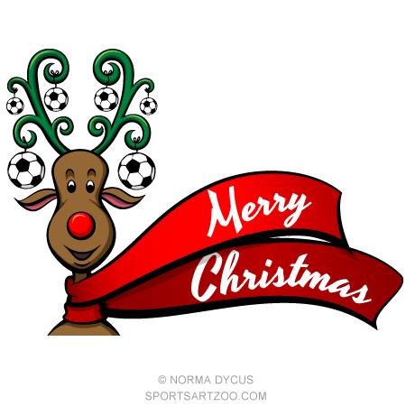 Soccer Christmas Reindeer.