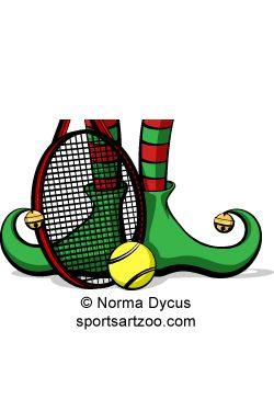 Tennis Christmas Elf Feet.