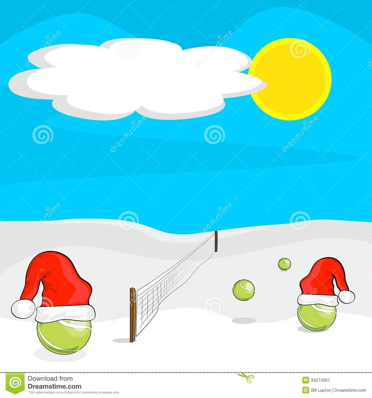 Christmas Tennis Clipart.