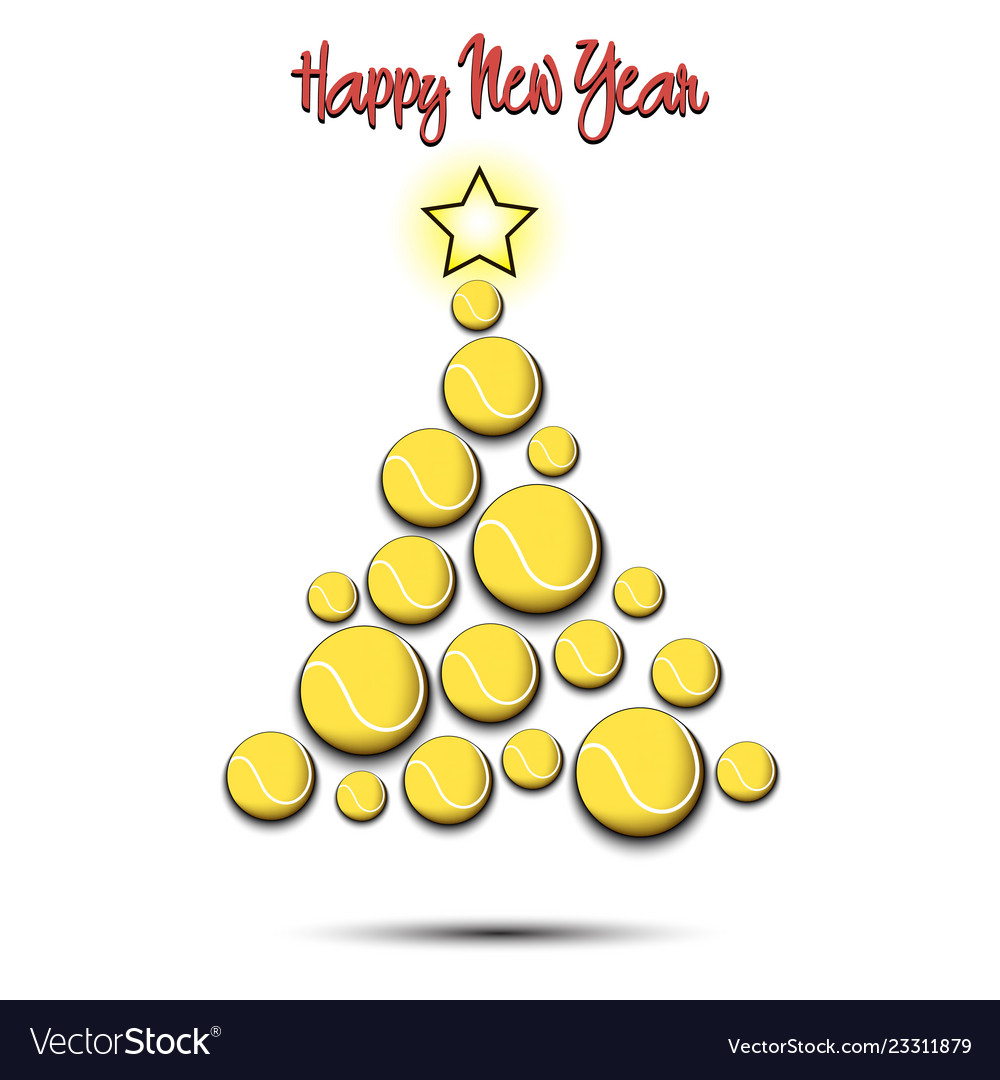 Christmas tree from tennis balls.