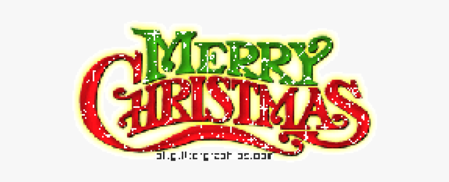 Merry Christmas Text Clipart Snow Png.