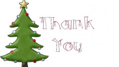 Printable christmas thank you card christmas cards clipart.