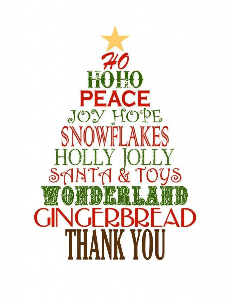 Favorite Christmas Gift: Thank You Cards.