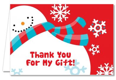Thank You Snowman Clipart.