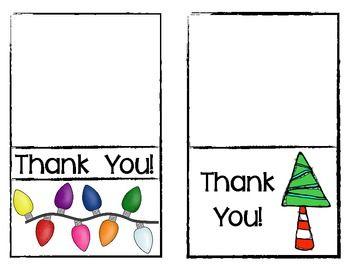 FREEBIE! Christmas Thank You Cards for Teachers.