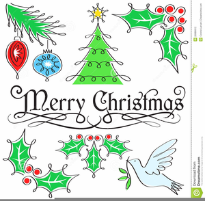 Clipart Christmas Holiday Thank You.