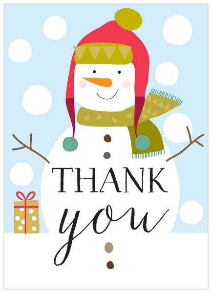 Christmas thank you snowman thank you clipart free.
