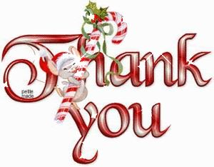 Christmas thank you thanks you images on animation animated clipart.