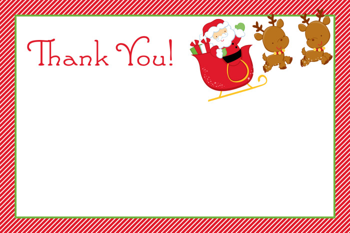 Free Christmas Thank You Clipart.