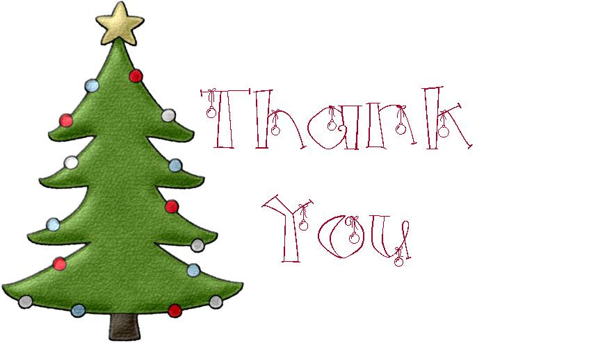 Christmas Thank You Card Clipart.