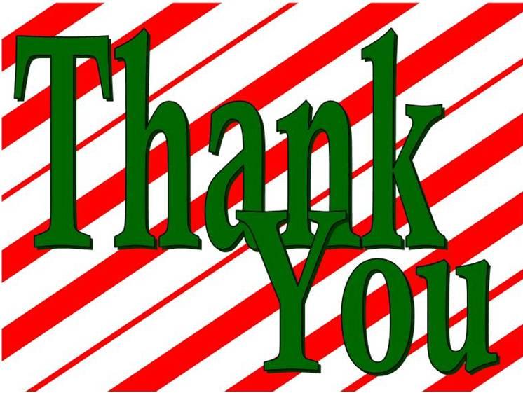 Christmas Thank You Clip Art.