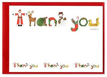 Santa Christmas Thank You Notes.