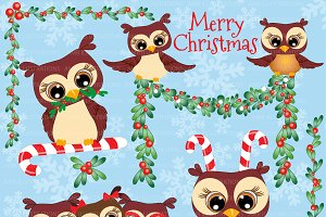 Christmas garland clipart Photos, Graphics, Fonts, Themes.