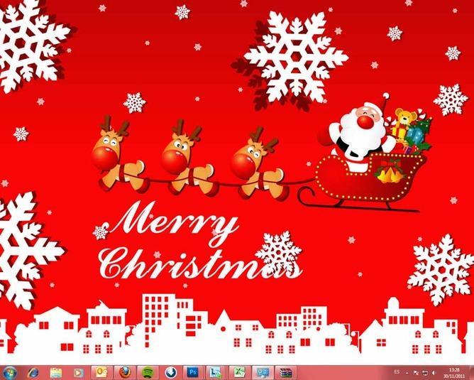 Windows 7 Christmas Theme (Windows).