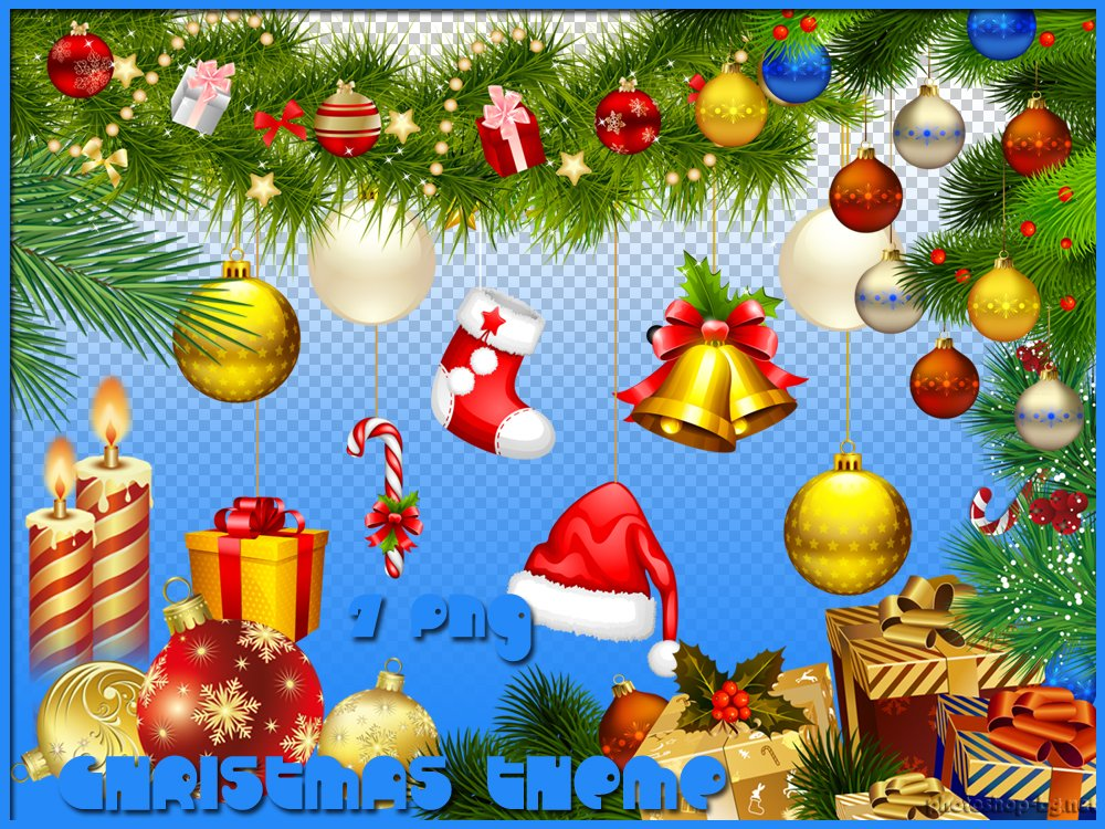 Christmas clipart themes.