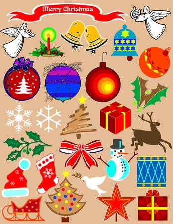 Christmas stuff. A needful clipart for your holiday projects.