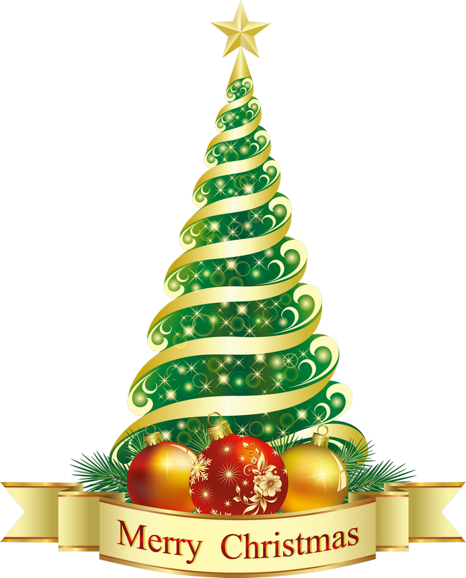 Xmas Tree With Words On It In Clipart.