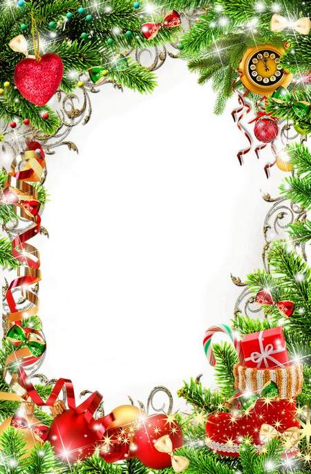 Bright Christmas Frame for photo processing.
