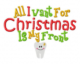 Christmas tooth clipart.